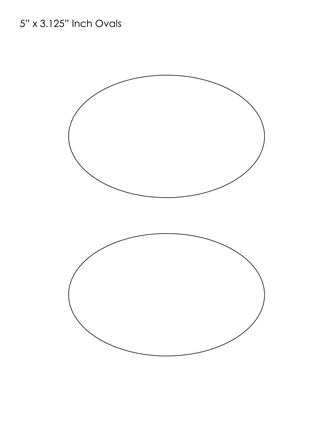 Oval Templates | Blank Shape Templates | Free Printable PDF