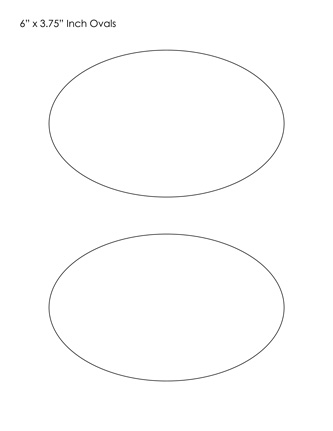 Adaptable image regarding printable oval shapes