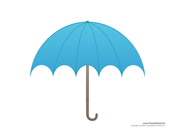 Paper Umbrella Template