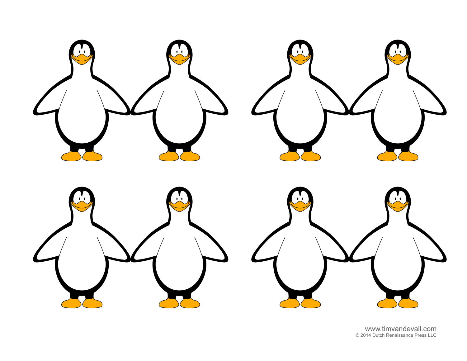 Penguin Template Coloring Pages Clipart Pictures And Crafts