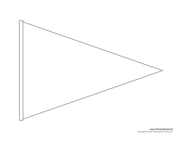 printable pennant banner template amp triangle banner templates