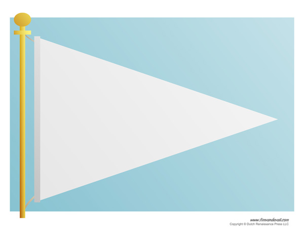 Printable Pennant Banner Template & Triangle Banner Templates