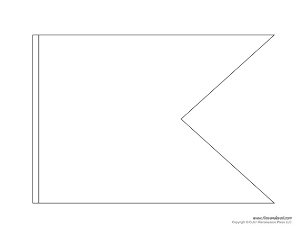 Printable pennant banner template triangle banner templates for Printable pennant banner template free