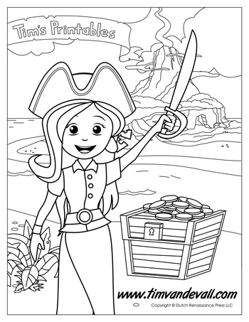 Pirate Girl Coloring Page Tim 39 s