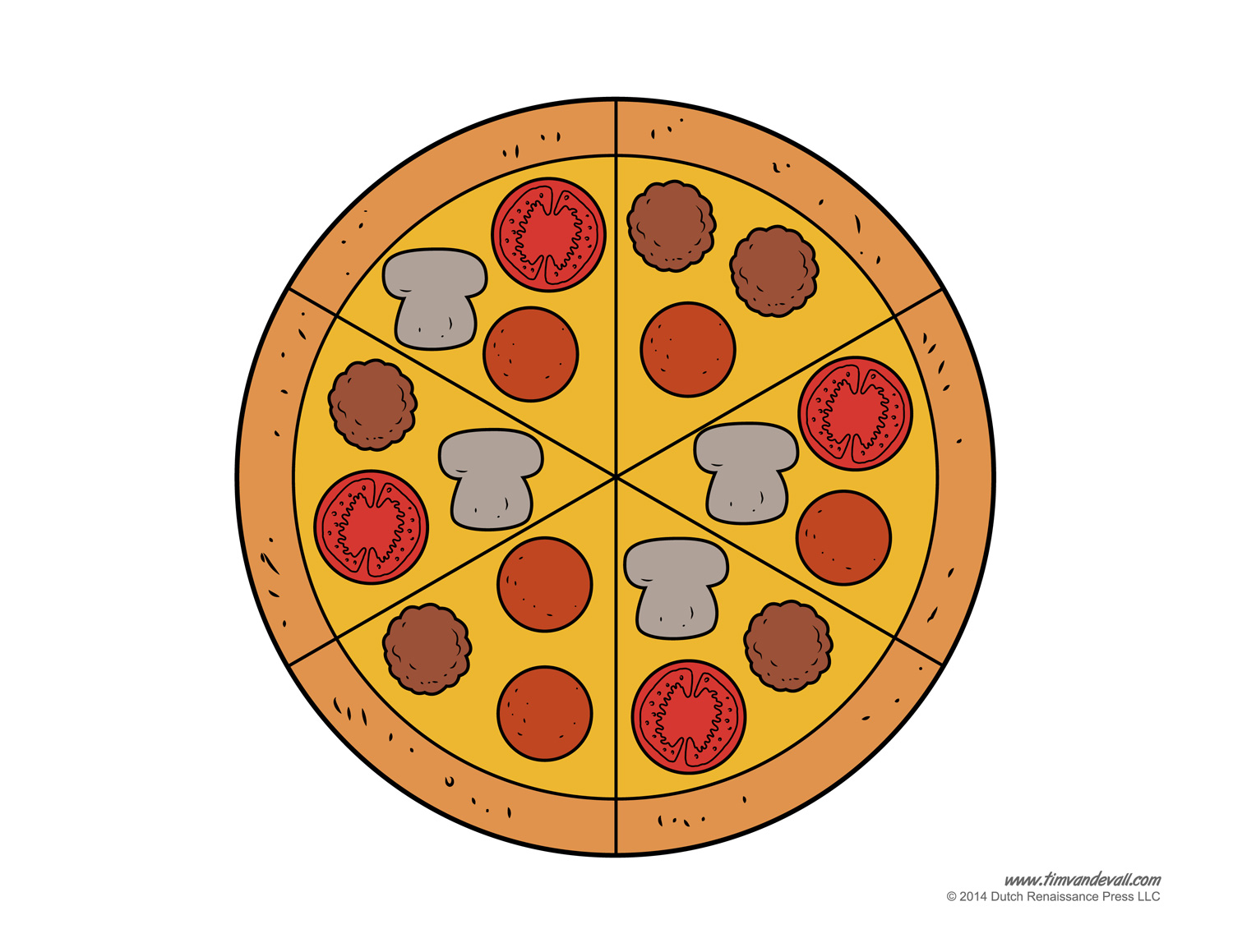 And finally, the supreme pizza. Like the pepperoni pizza templates ...
