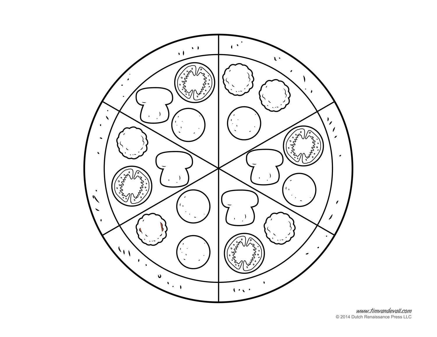 photo regarding Pizza Printable titled pizza-template - Tims Printables