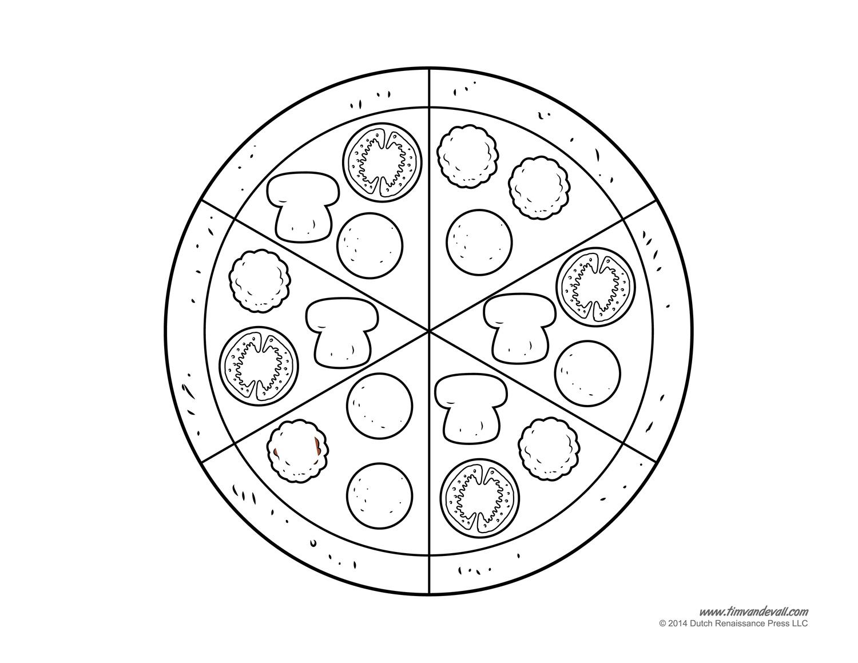 Pizza Clip Art Black And White