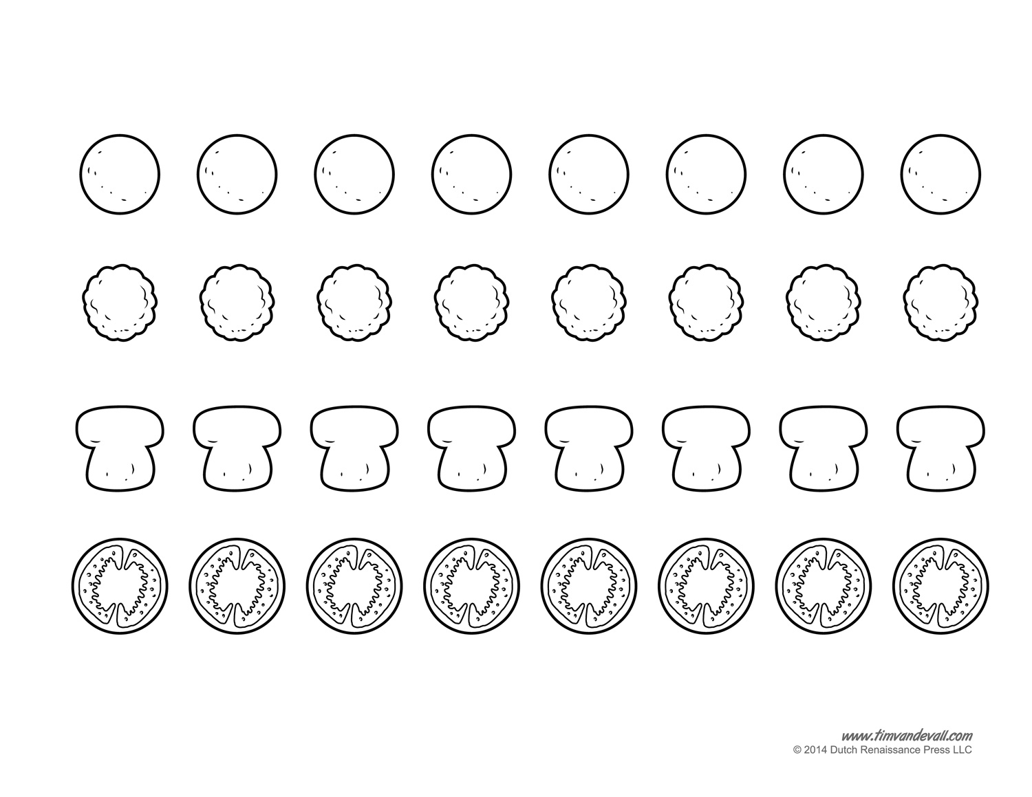 graphic about Printable Pizza Toppings named Blank Pizza Template Printable Pizza Craft for Children