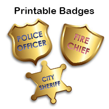 picture relating to Printable Police Badges named Printable Badges for Youngsters: Law enforcement, Hearth Leader, and Detective