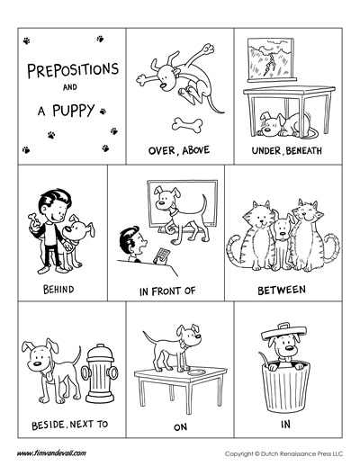 printable prepositions poster
