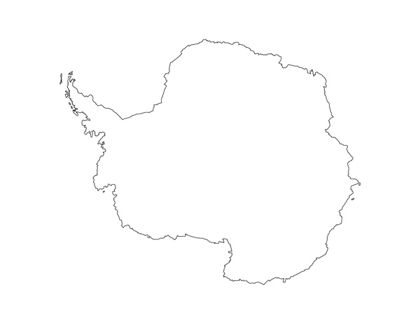 antarctica map printable