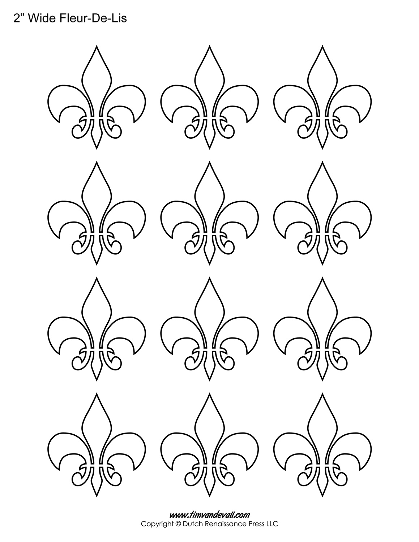 image relating to Fleur De Lis Printable named Fleur De Lis Templates Printable Fleur De Lis Designs