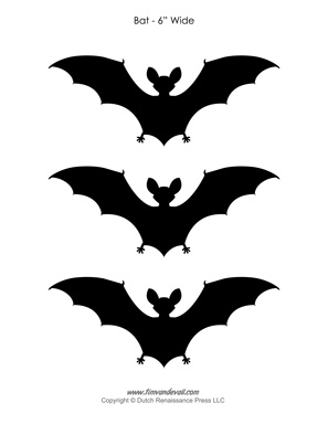 graphic regarding Bat Outline Printable known as Printable Bat Outlines Bat Silhouettes