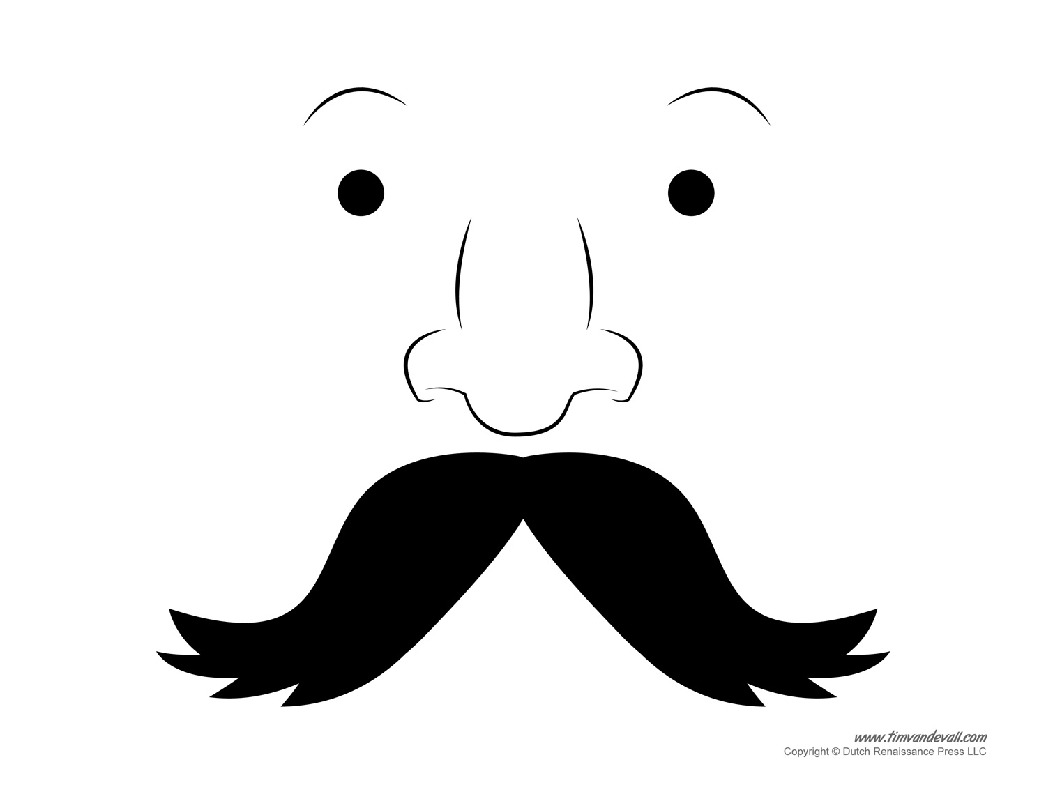 French Mustache Template Printable Mustache Template