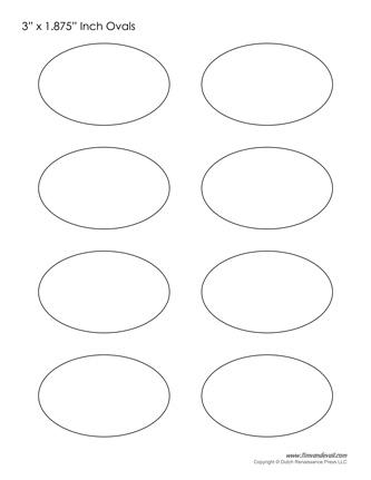 printable oval templates