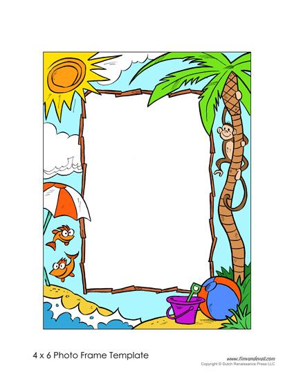 Printable Photo Frame Template
