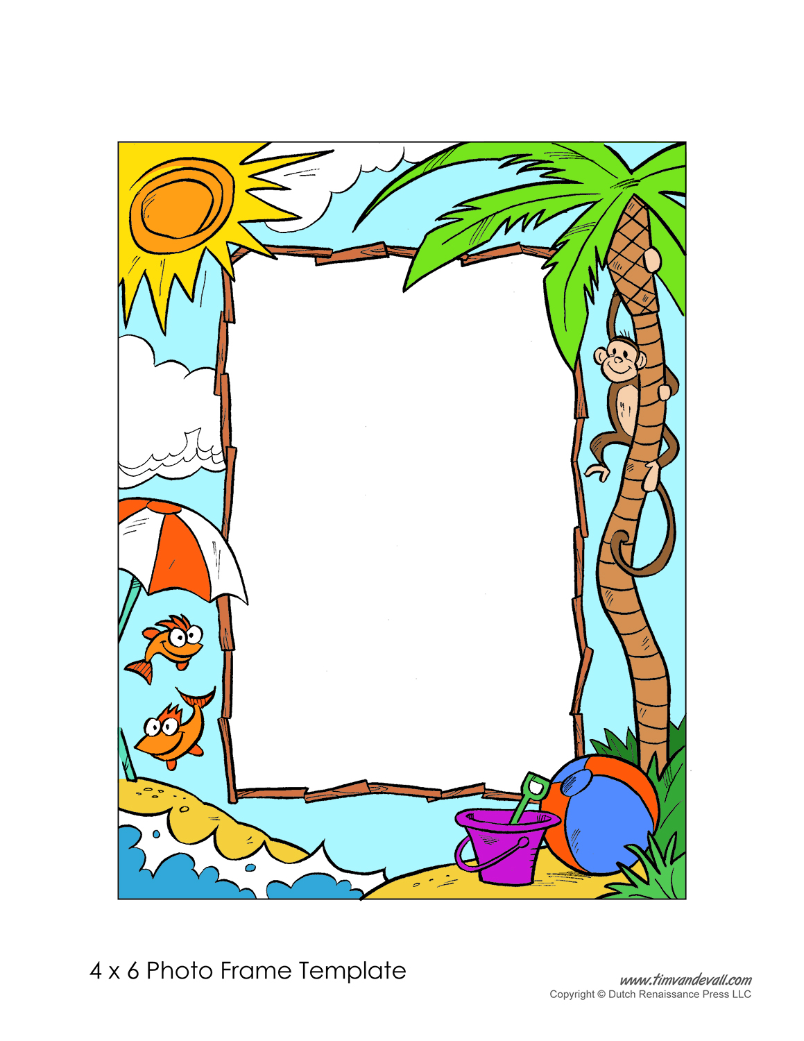 printable photo frame template - Art Templates For Kids