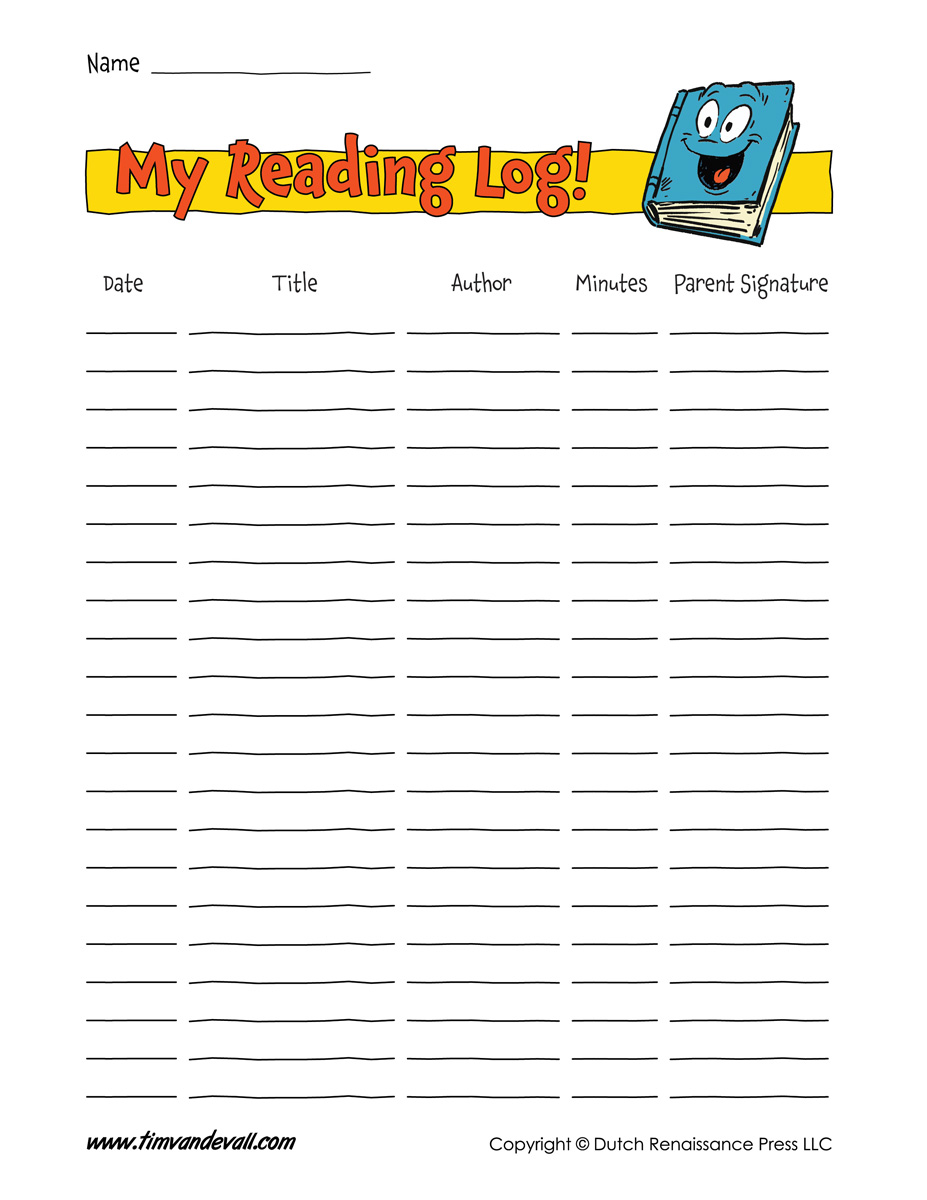 graphic relating to Printable Reading Logs With Parent Signature titled Absolutely free Printable Looking at Log Templates, Background Your Examining