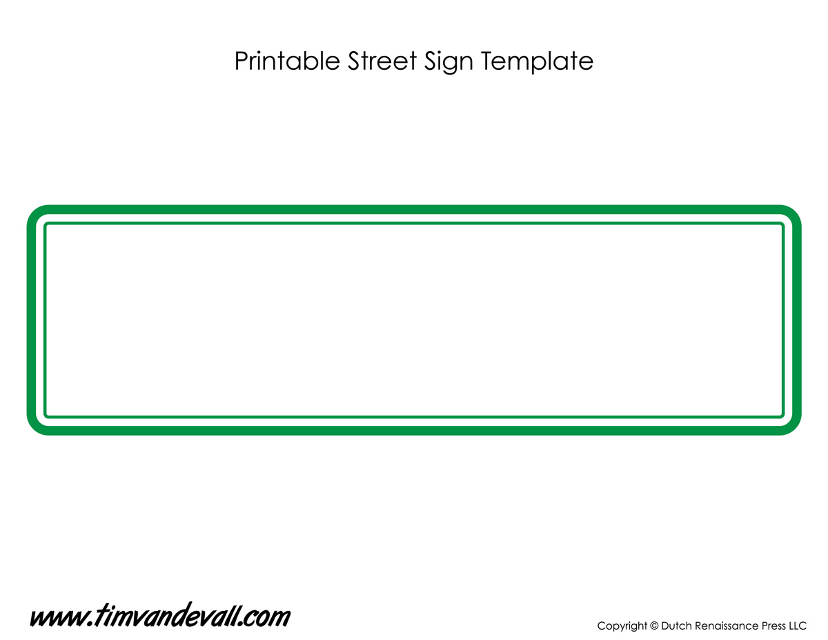 Street sign template tim 39 s printables for Free printable sign templates