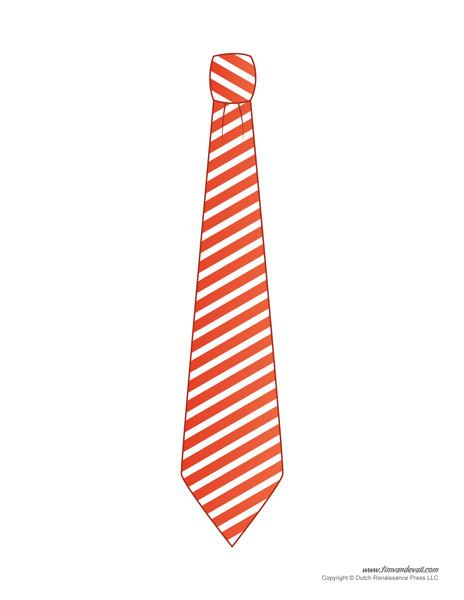 Printable Tie Template