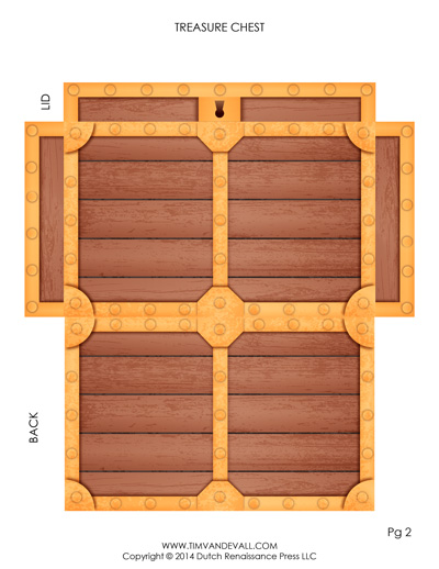 paper treasure chest template