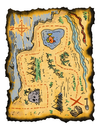photograph regarding Printable Treasure Maps known as Treasure Map #1 - Tims Printables