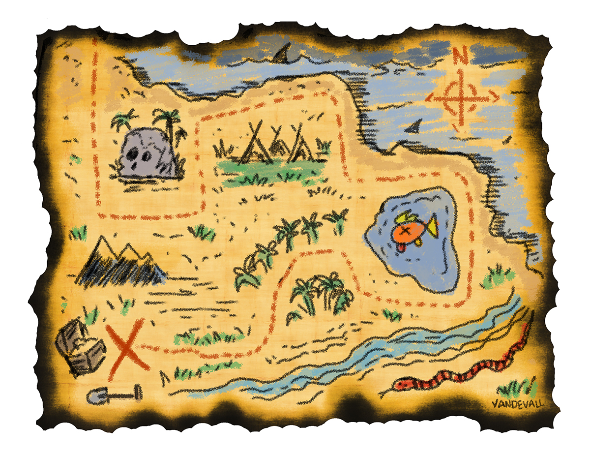 image about Treasure Map Printable referred to as Printable treasure maps for young children