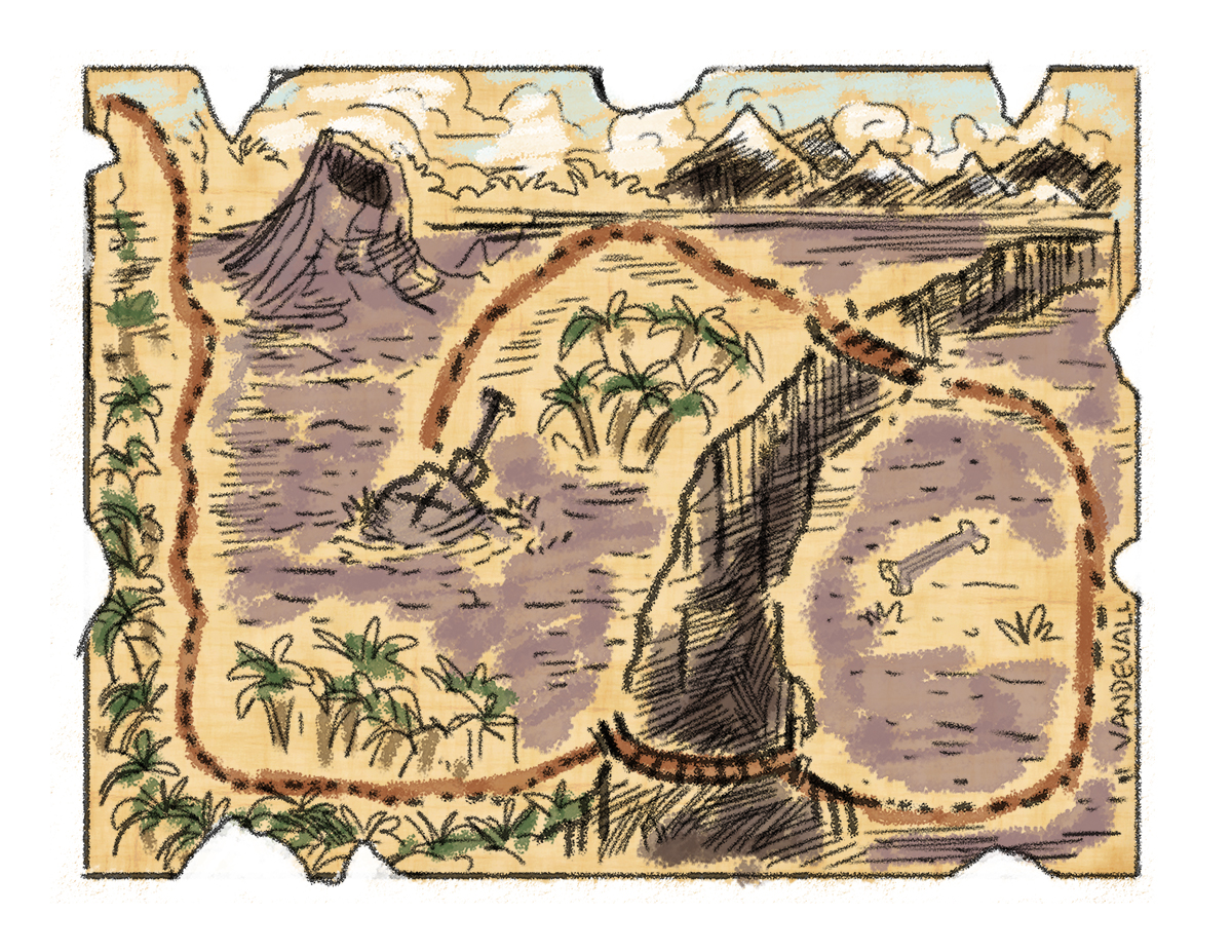 graphic relating to Printable Treasure Map titled Printable treasure maps for youngsters