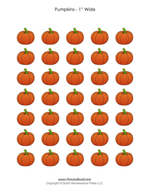 Free Pumpkin Clip Art Sheets Printable Pumpkin Stickers