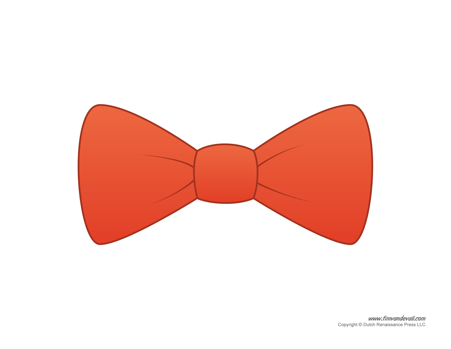 Paper Bow Tie Template on Shape Print Outs