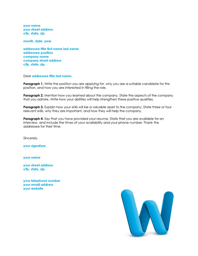 Resume Cover Letter Template  Free Cover Letter For Resume