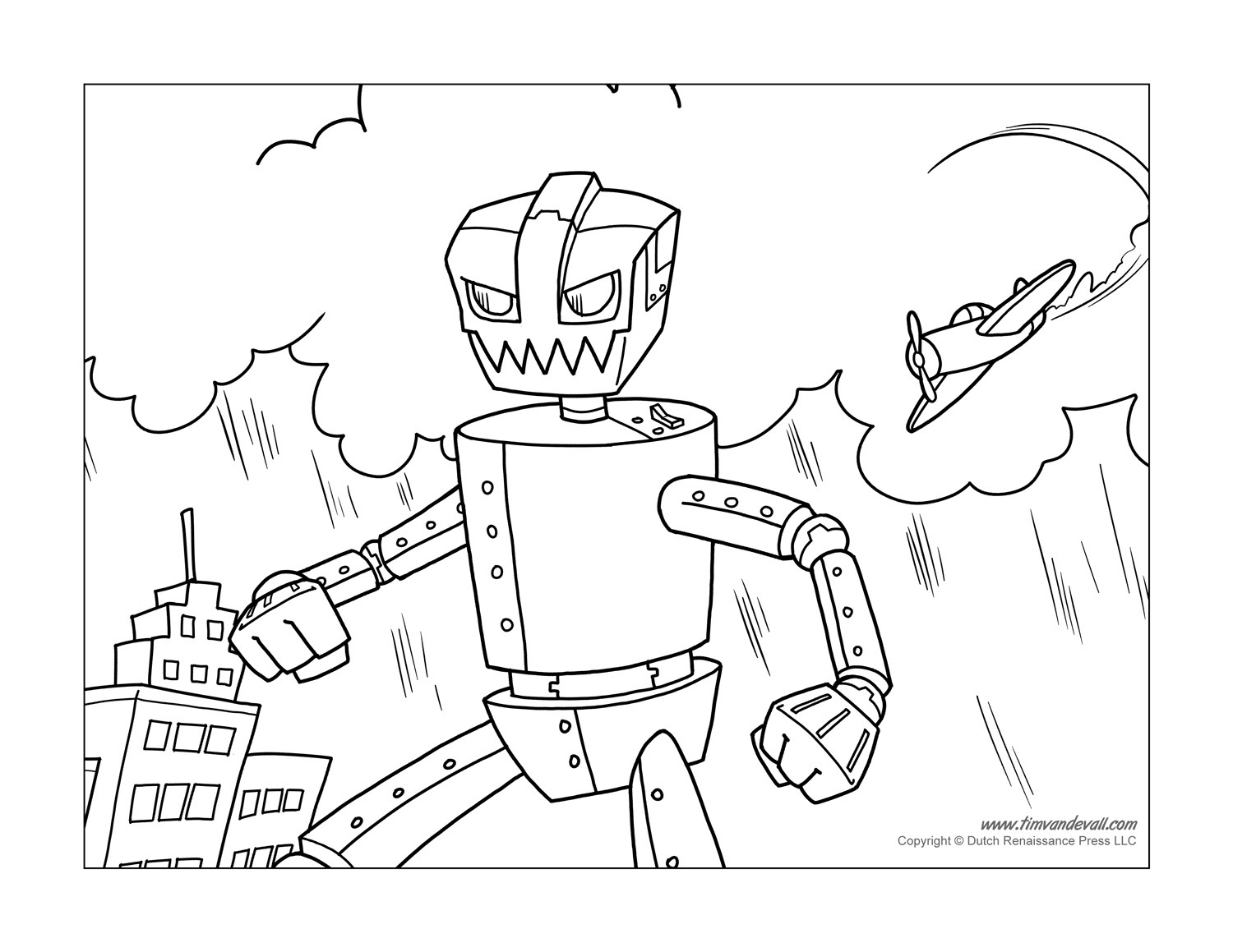 Printable Robot Coloring Pages | Coloring Pages for Kids