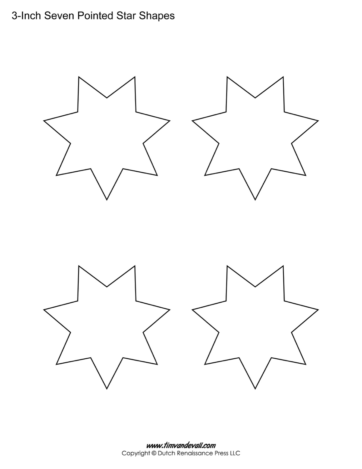 star shapes to print images