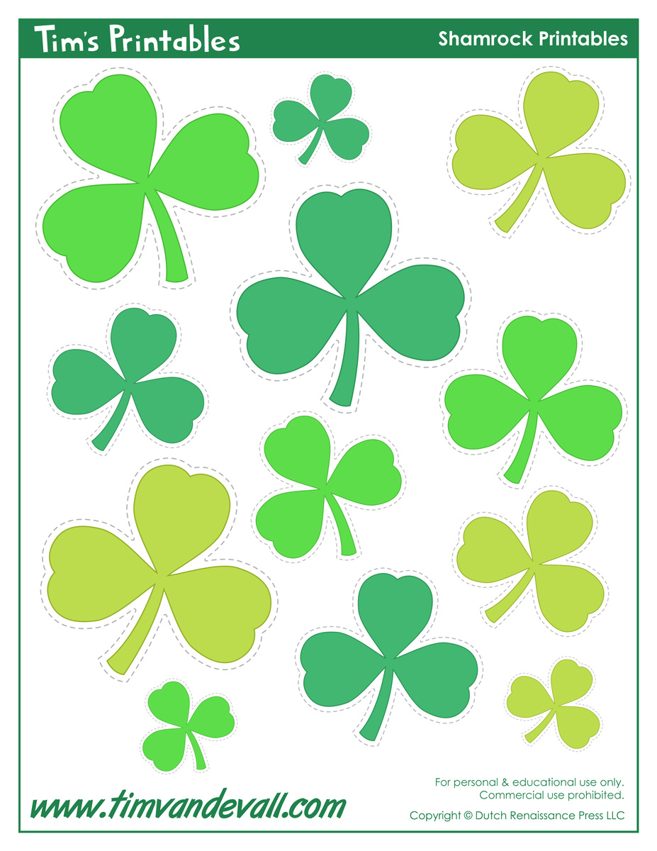 graphic about Printable Shamrock Images identify Printable Shamrock Templates Printable Form Templates