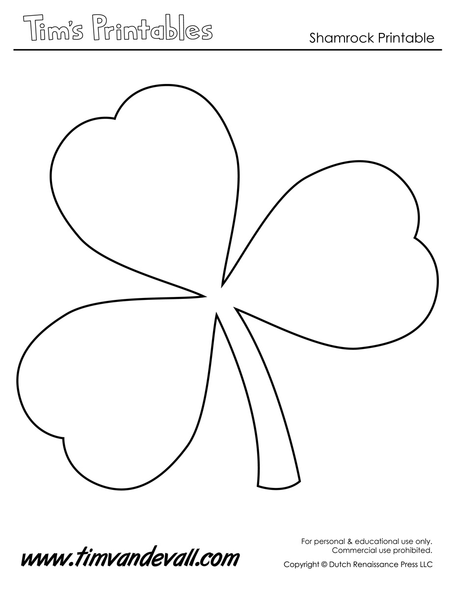 Printable Shamrock Templates | Printable Shape Templates
