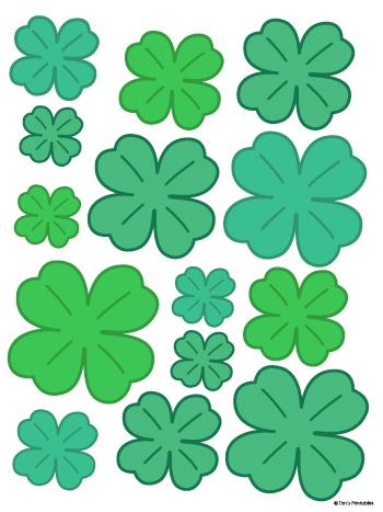 4 leaf clover templates