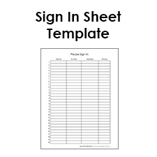 Sample Meeting Sign-In Sheets