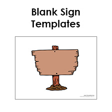 free sign templates printable