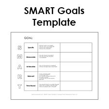 Printables Smart Goals Worksheets free smart goals template pdf example