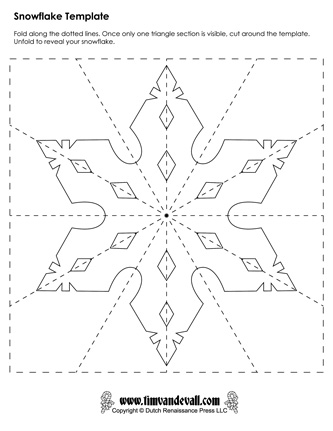 This is a graphic of Accomplished Printable Paper Snowflake Pattern