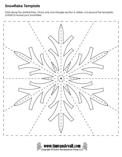 Snowflake Template 8 Tim 39 s Printables