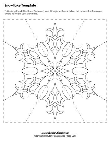 Snowflake Template   TimS Printables