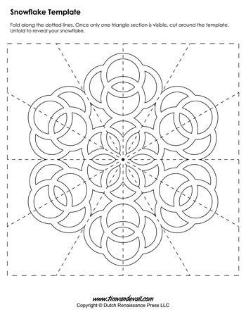 snow templates barca fontanacountryinn Romantic Plants paper snowflake templates for christmas holiday crafts