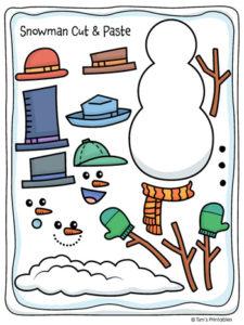Snowman Cut and Paste Activity