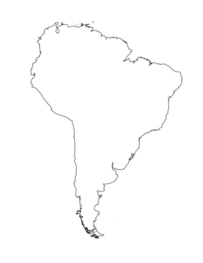 Tim van de Vall — Blank Map of South America Template