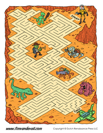 free space maze for kids
