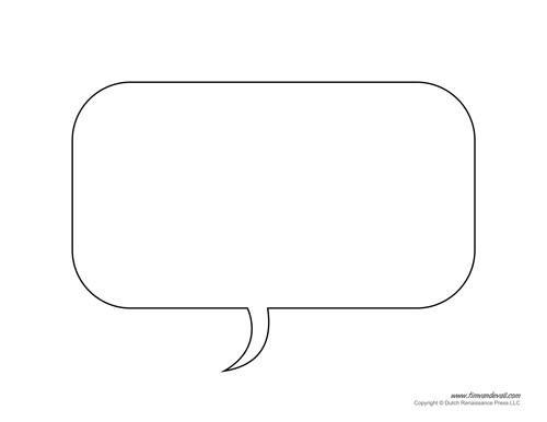 photo about Printable Speech Bubbles named Free of charge Printable Speech Bubble Templates - PDF Layout
