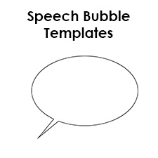 image relating to Speech Bubble Printable named Free of charge Printable Speech Bubble Templates - PDF Structure
