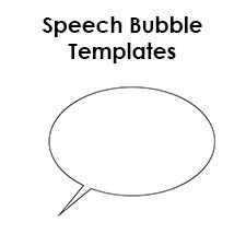 speech bubble templates