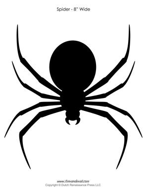 Halloween Spider Outline Spider Silhouette